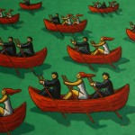 Corperated regatta 85x100cm