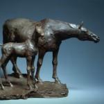 -Jument et son poulain- bronze,hauteur,35 cm
