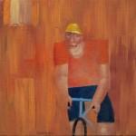 Wielrenner, 2011, olie op linnen, 40 bij 40 cm., nr_ 110713, JPEG