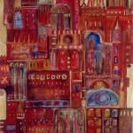 een huis voor iedereen, aquarel, 105x75 l 134x104