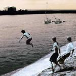 jongenspringeninwater-60x60cm