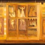 van toen wij jong waren - acryl op doek 65 x 150 cm -  foto Peter Cox